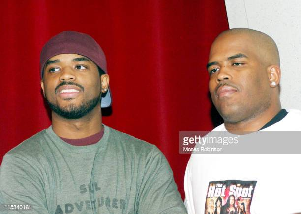 Larenz Tate and Lahmard Tate during Urban Film Review Presents Love Come Down at Woodruff Art Center in Atlanta Georgia United States