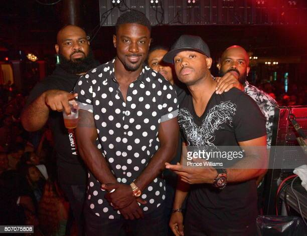 Larenz Tate and Lance Gross attend The Art of Luxury 'Black and White Blowout' Party at Metropolitan Nightclub on July 2 2017 in New Orleans Louisiana