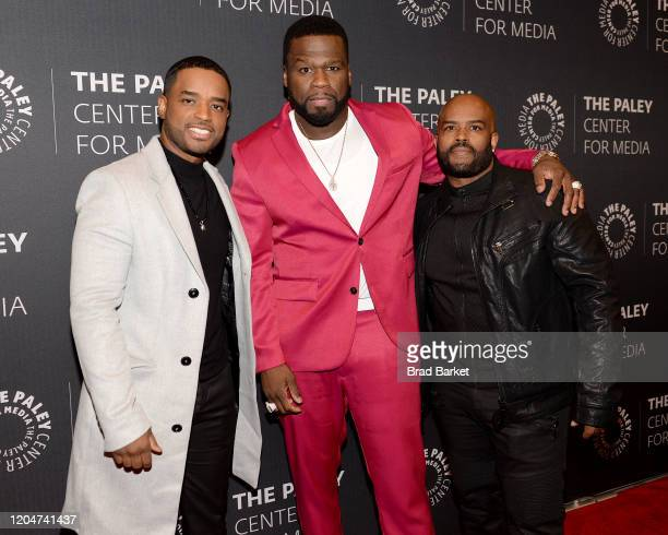 Larenz Tate Curtis 50 Cent Jackson and Lahmard Tate attend the Power Series Finale Episode Screening at Paley Center on February 07 2020 in New York...