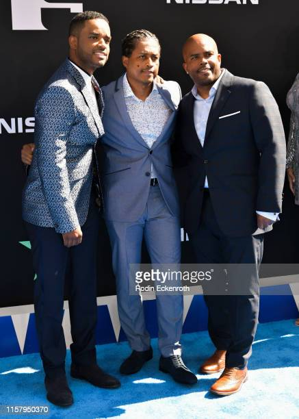 Larenz Tate Lahmard Tate and Larron Tate attend the 2019 BET Awards on June 23 2019 in Los Angeles California