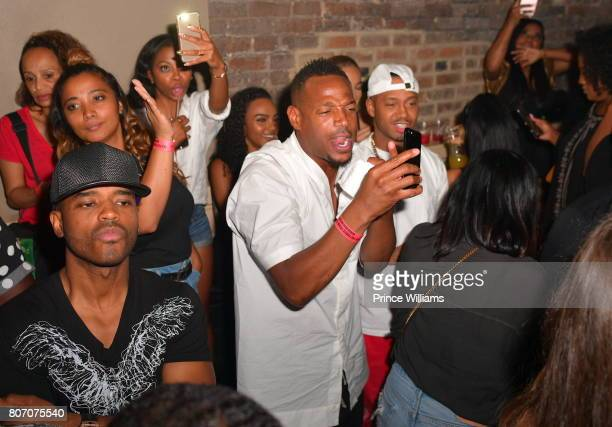 Larenz Tate Marlon Wayans and Terrence J attend The Art of Luxury 'Black and White Blowout' Party at Metropolitan Nightclub on July 2 2017 in New...