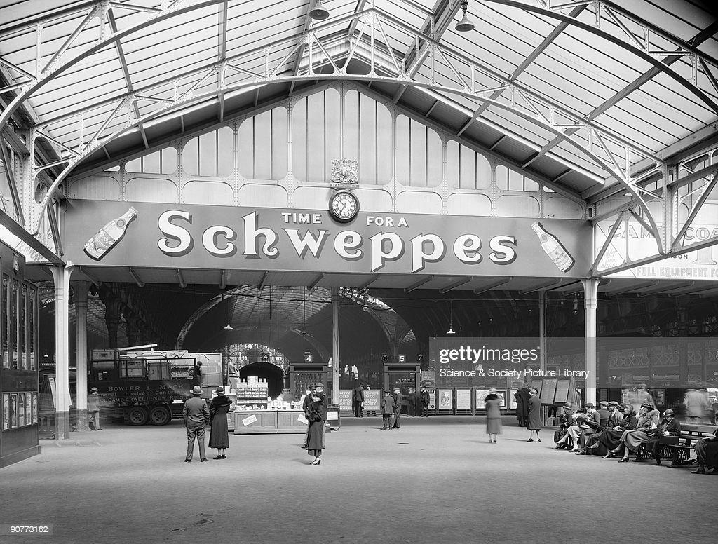 Advertisement at Paddington Station, London, 1934. : News Photo
