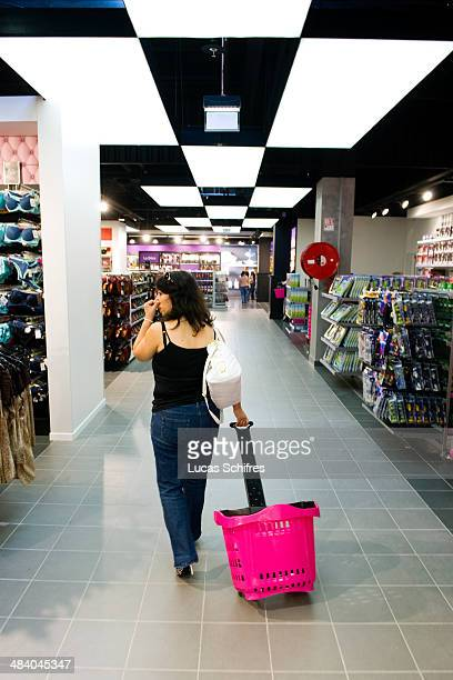 Large alleys in Tati's newly designed store in Belle Epine mall on September 25 in Thiais near Paris France Tati is a brand of discounted stores...