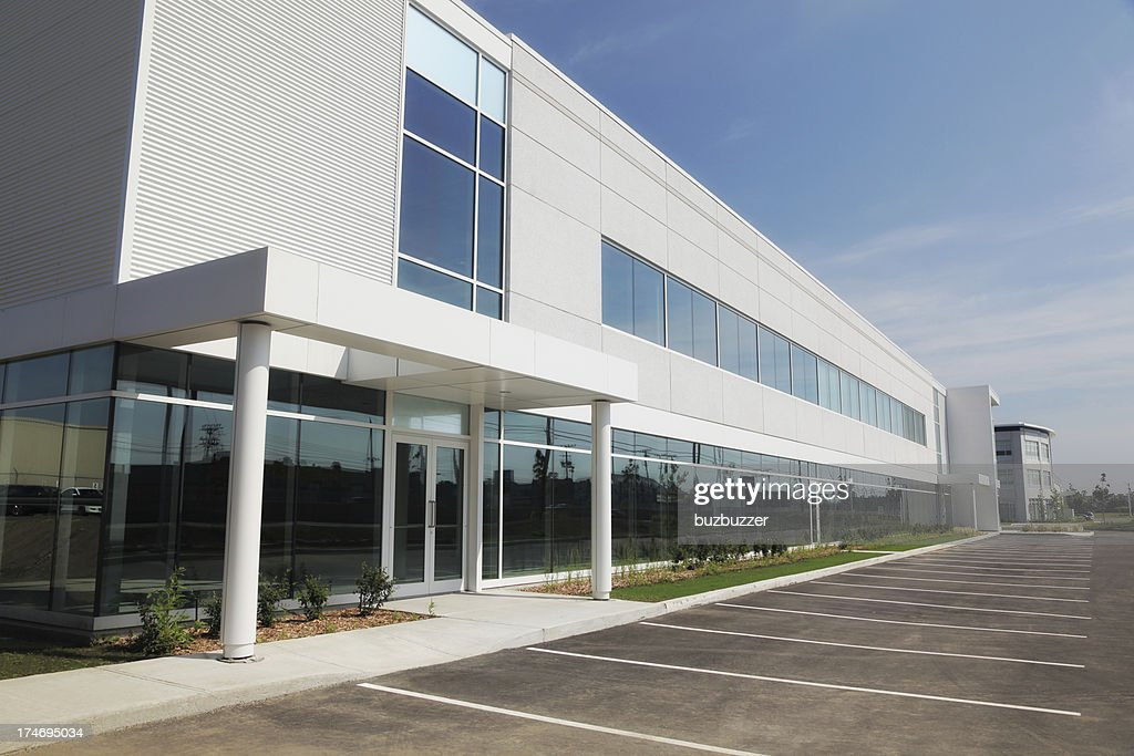 Large and Modern Business Entrance : Stock Photo