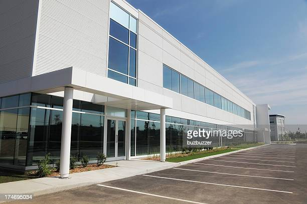 large and modern business entrance - building exterior stock pictures, royalty-free photos & images