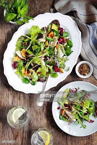 Türkei und avocado-Salat mit cranberry-dressing