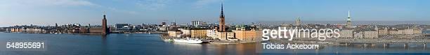 large [anorma over stockholm - riddarholmkirche stock-fotos und bilder