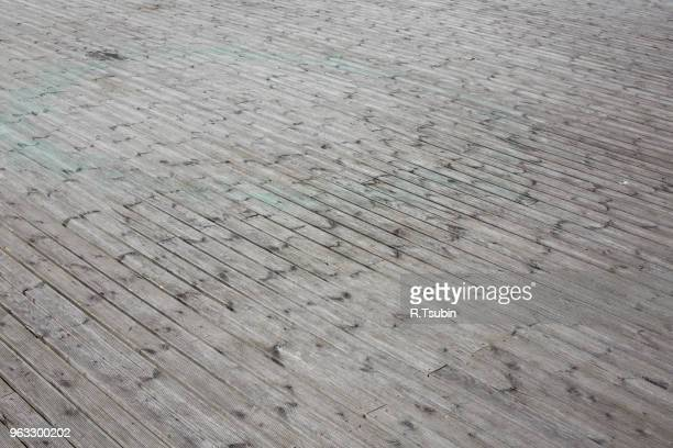 large area of a wooden floor terrace - floorboard stock photos and pictures