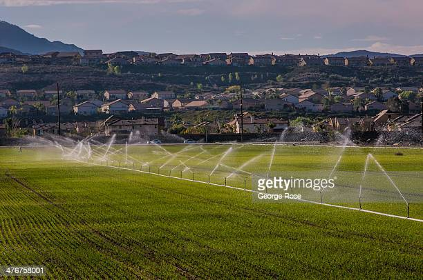 Large areas of open space in the Temecula Valley are accented by tract housing as viewed on February 24, 2014 in Temecula, California. Temecula...