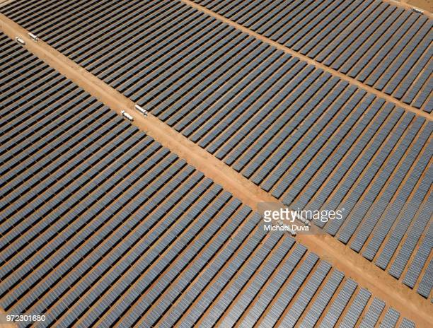 Large array of solar panels
