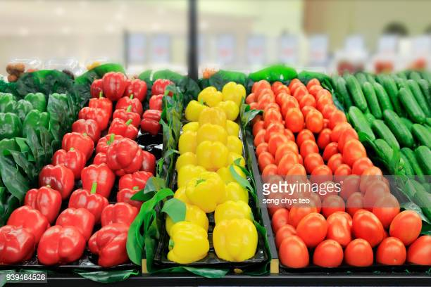 a large assortment of fresh produce - fruits and vegetables stock pictures, royalty-free photos & images