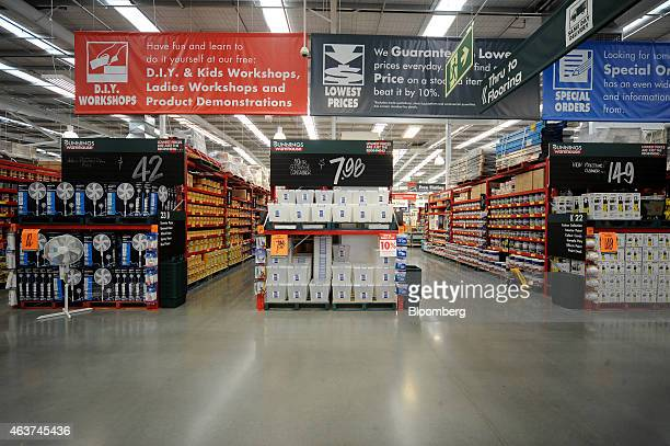 Do it yourself store chain stock photos and pictures getty images large banners advertise instore services at a bunnings warehouse store operated by westfarmers ltd in melbourne solutioingenieria Choice Image