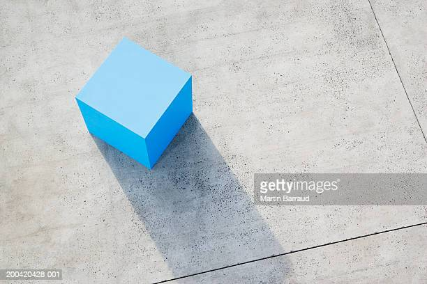 Large blue block, elevated view