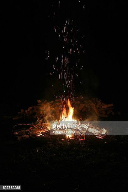 Large Bonfire in the outdoors