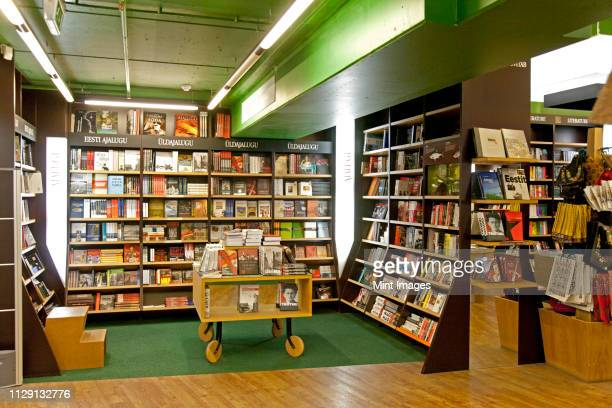 large bookstore interior - book store stock photos and pictures