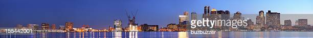 Large Boston City Panorama at Night