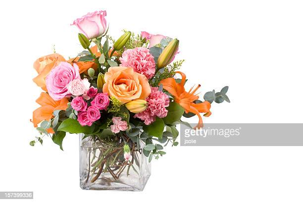 a large bouquet of multicolored flowers of different species - bunch stock pictures, royalty-free photos & images