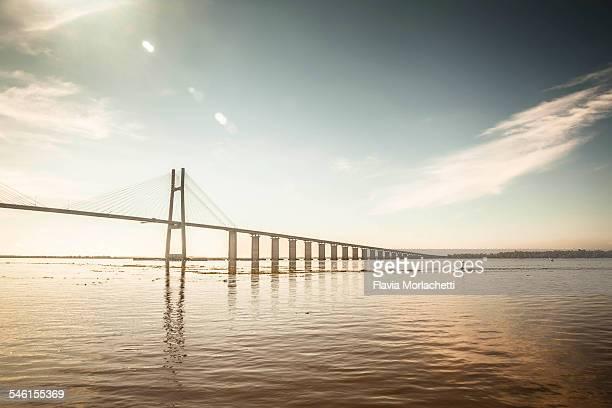 Large bridge over river