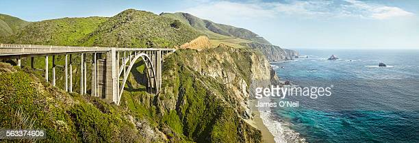 large bridge overlooking the sea at Big Sur