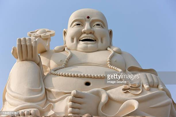 large buddha statue at vung tau, ba ria province, vietnam - buddha stock photos and pictures