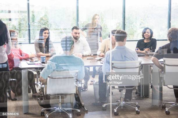 Large Business Meeting in a Conference Room