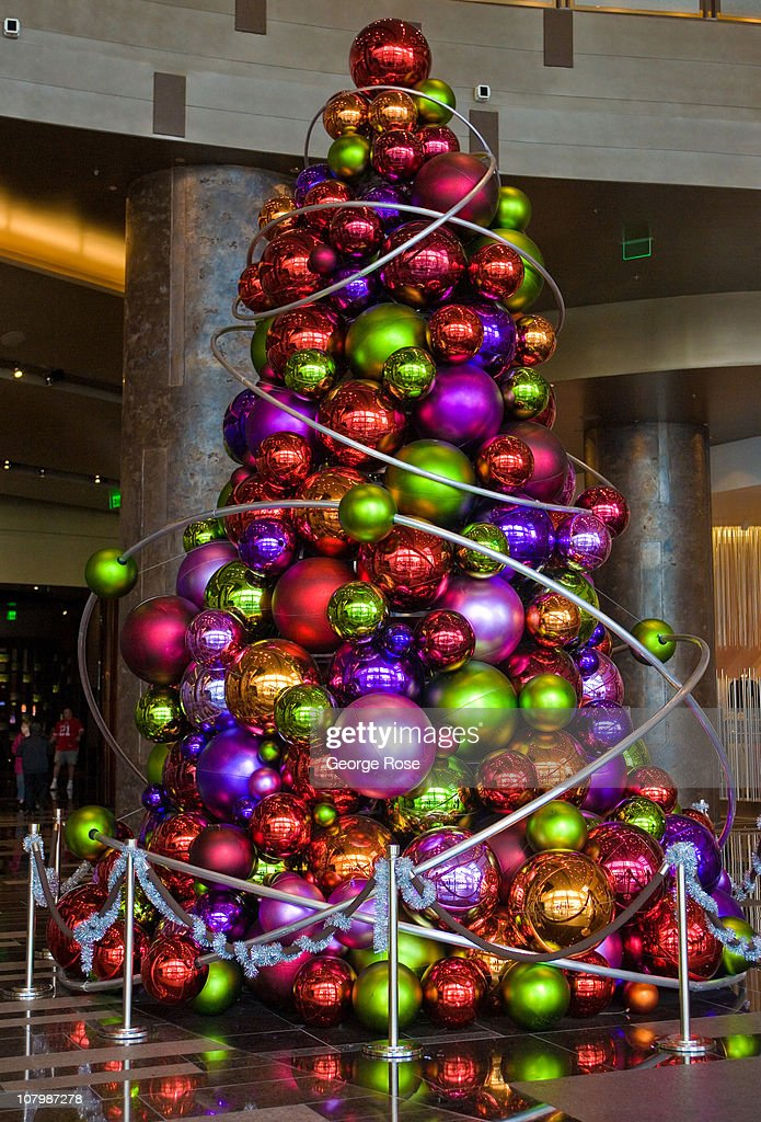 las vegas glitz kitsch on display news photo - Large Christmas Tree Ornaments