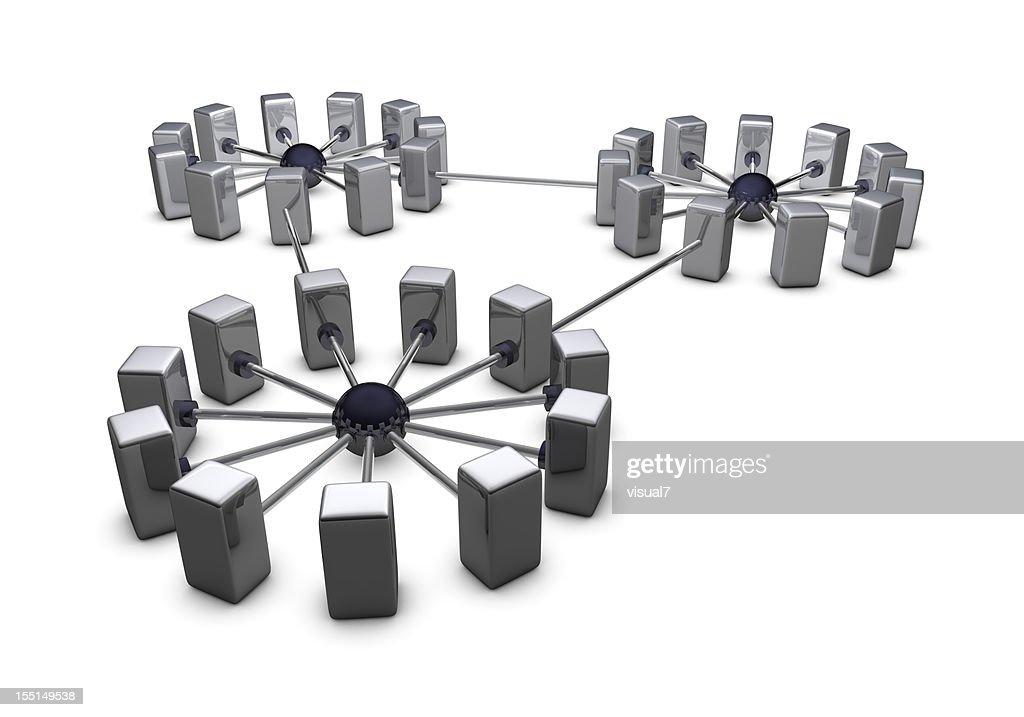 large chrome network : Bildbanksbilder