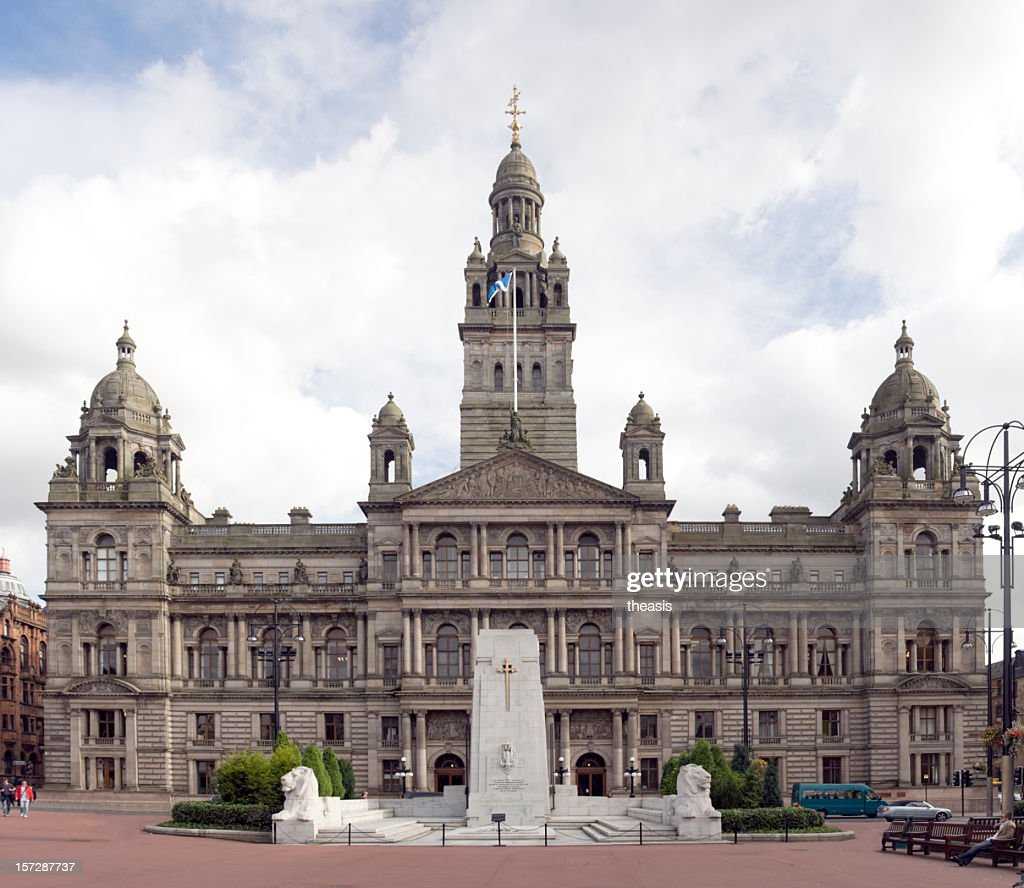 Large City Chambers building in Glasgow, Scotland : Stock Photo