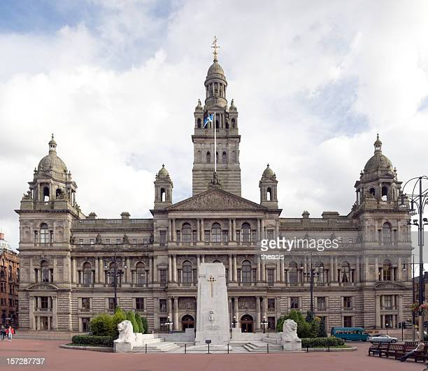 large city chambers building in glasgow, scotland - central scotland stock pictures, royalty-free photos & images