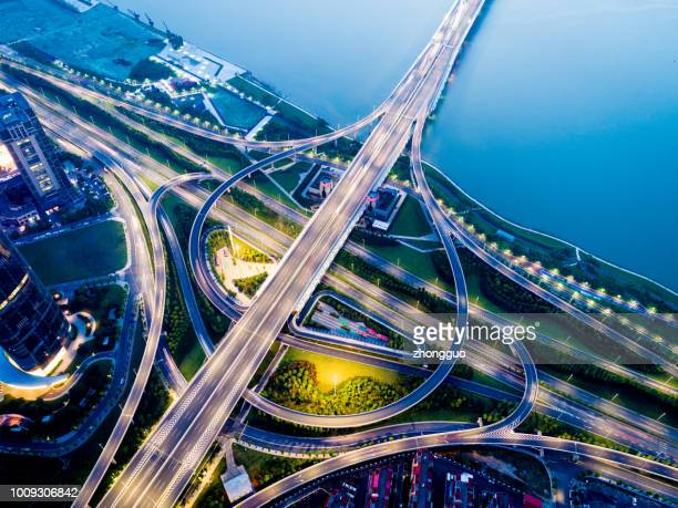 Large city traffic hub
