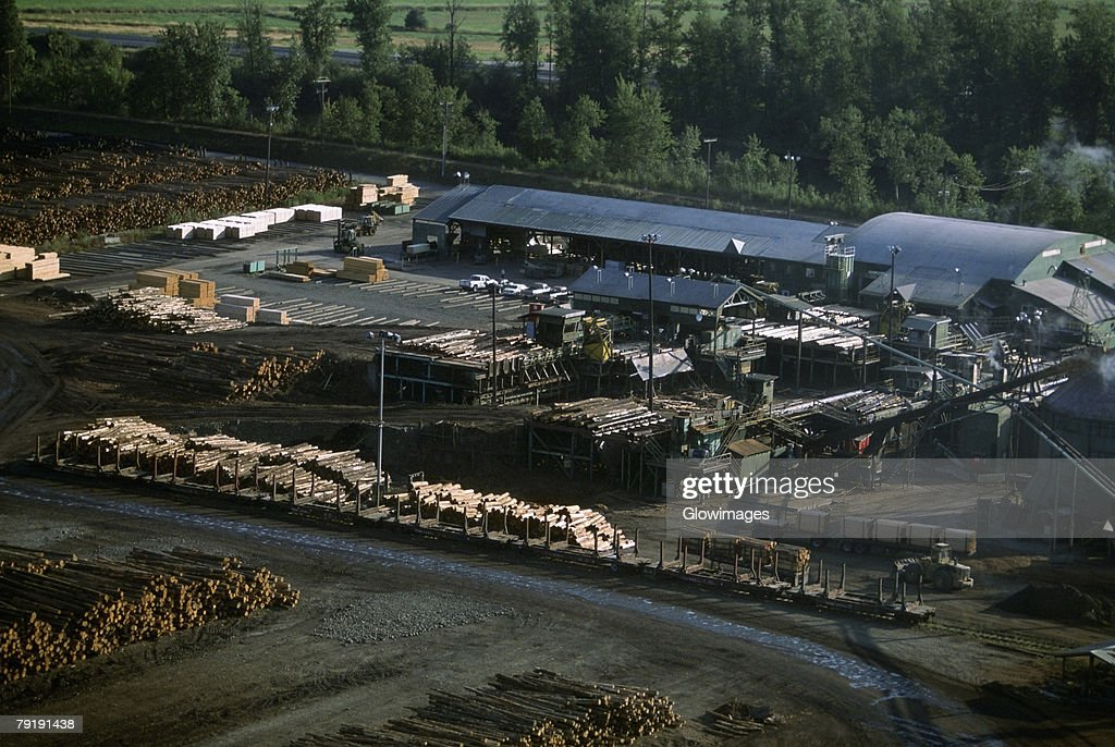 Large commercial sawmill, Idaho, USA : Stock Photo