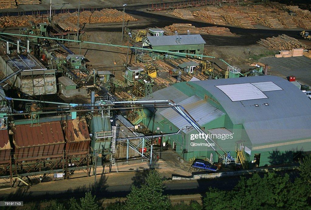 Large commercial sawmill, Idaho, USA : Foto de stock