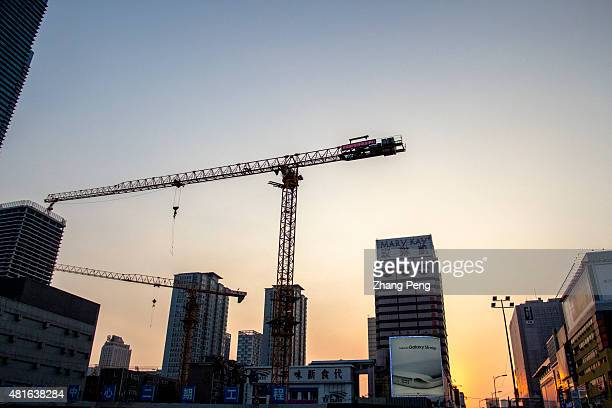 A large construction site in Shenyang downtown In the first quarter of 2015 property investment in China slowed to 46 percent while newly started...