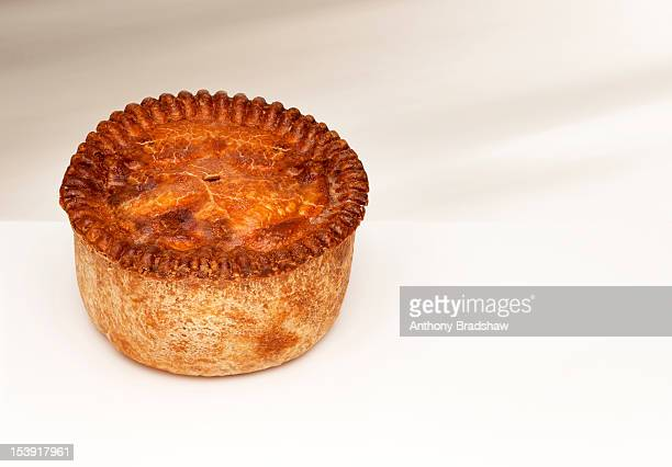 Large cooked pie with copy space