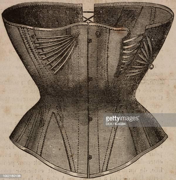Large coutil corset, La Mode Illustree, No 45, November 7, 1869.