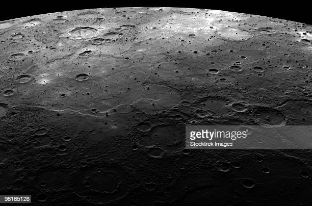 Large craters on the planet Mercury.