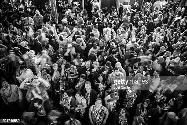 Large crowd at Mardi Gras