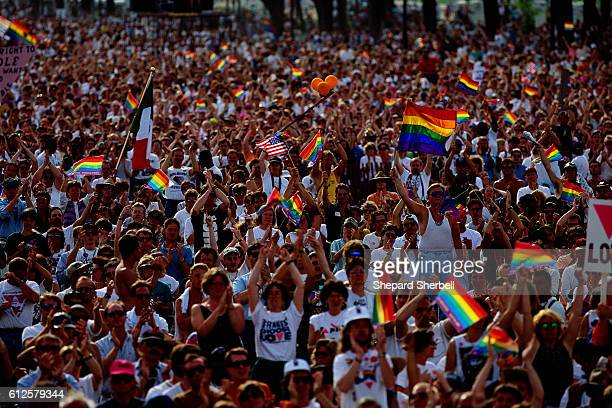 Large crowd at the 1993 March on Washington for Lesbian Gay and Bisexual Rights and Liberation