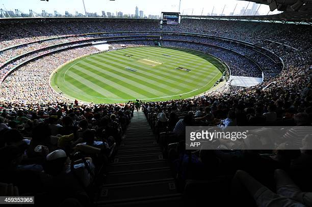 A large crowd attends the MCG to watch the Boxing Day match between Australia and England on the first day of the fourth Ashes cricket Test match in...