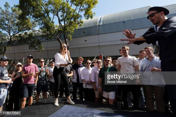 A large crowd gets into the spirit of a game of TwoUp at the Australian Hotel in the Rocks Twoup is illegal on every day of the year except the...