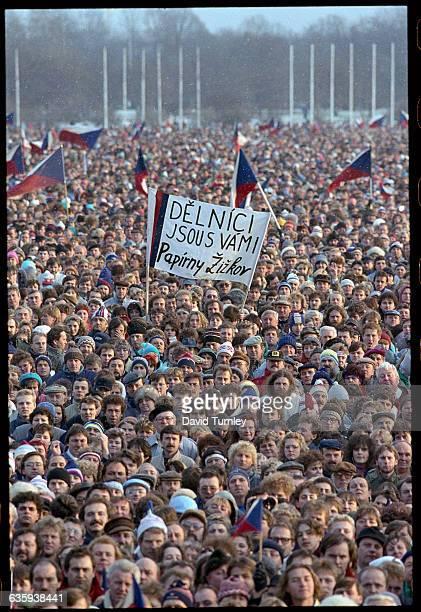 Large Crowd of Czechoslovakians