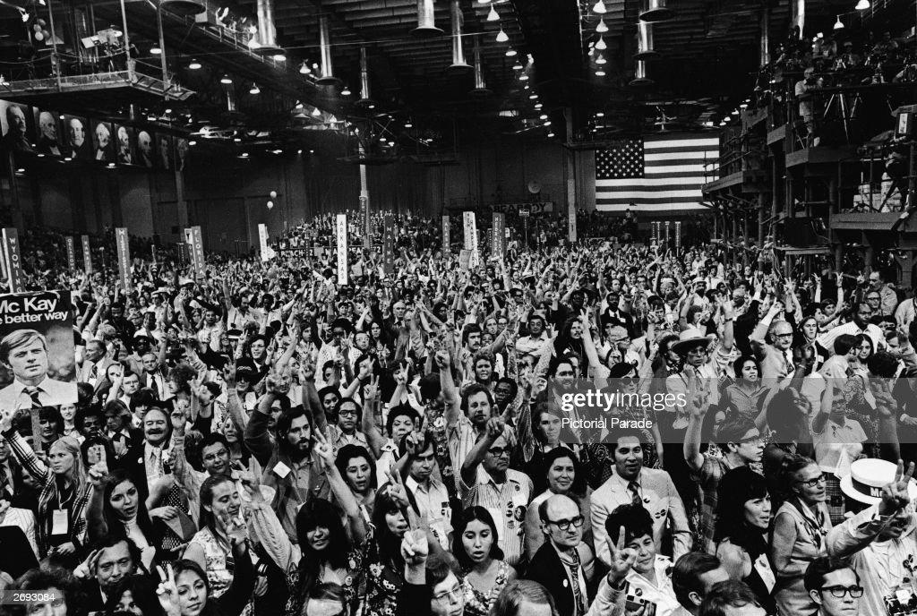 1972 Democratic National Convention Floor : News Photo
