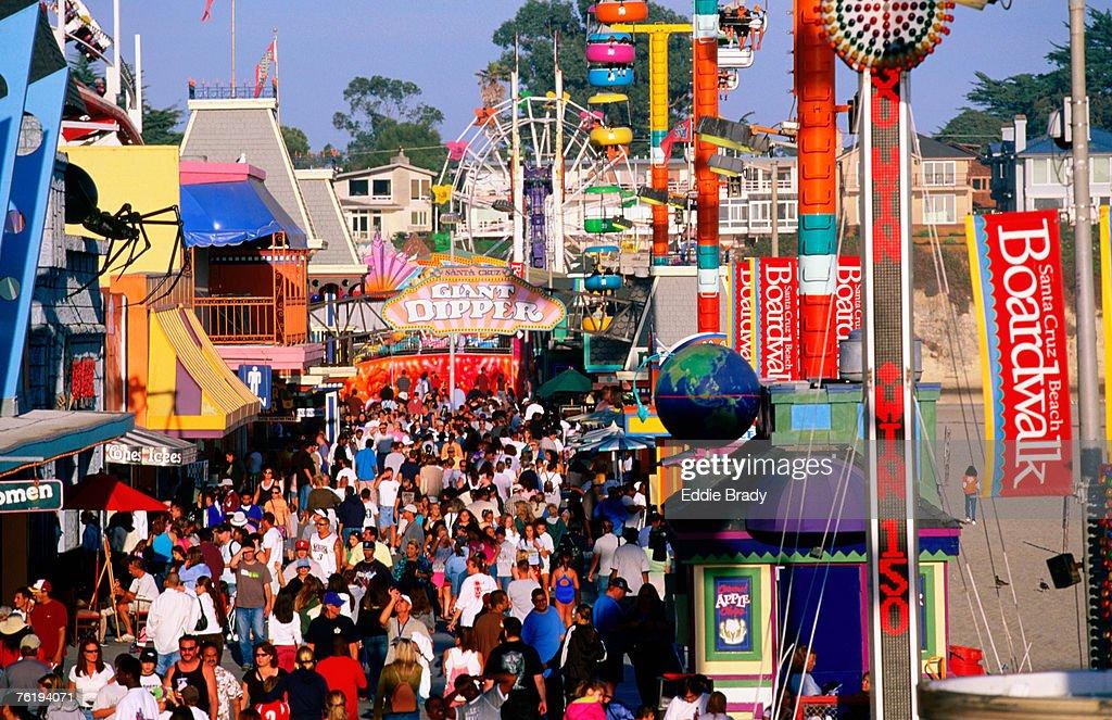 Large Crowd On Saturday Afternoon At Santa Cruz Beach