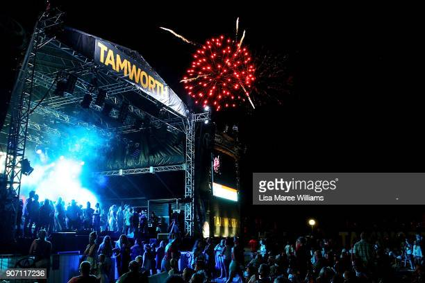 Large crowds attend the opening night concert at the Toyota Country Music Festival Tamworth on January 19, 2018 in Tamworth, Australia.