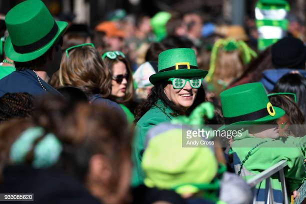 Large crowds for the annual St Patrick's parade in downtown Denver March 17 2018