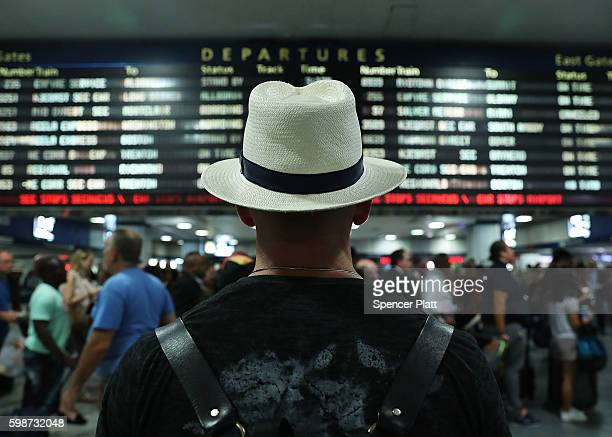 Large crowds rush to depart New York's Pennsylvania station before the start of the Labor Day holiday weekend on September 2 2016 in New York City...