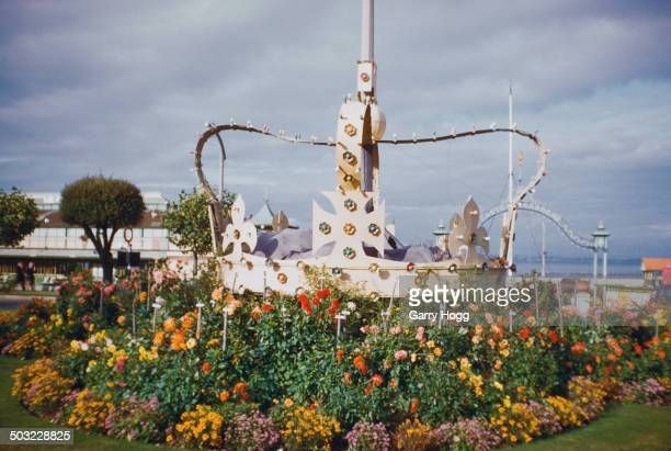 A large crown in a flowerbed in Ryde on the Isle of Wight celebrating the coronation of Queen Elizabeth II which took place earlier in the year...