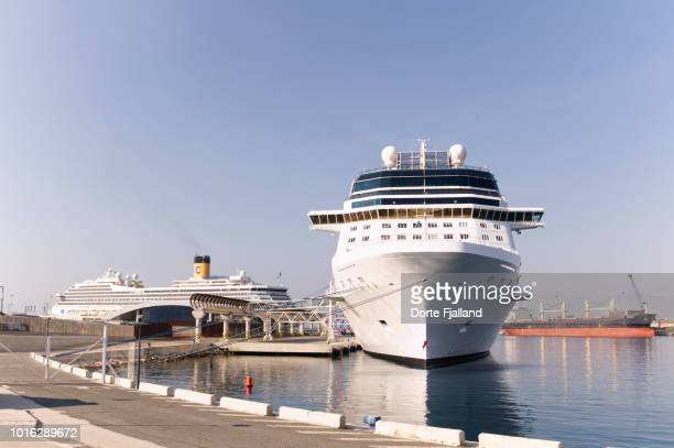 Large cruise ship on a bright and sunny Summer day