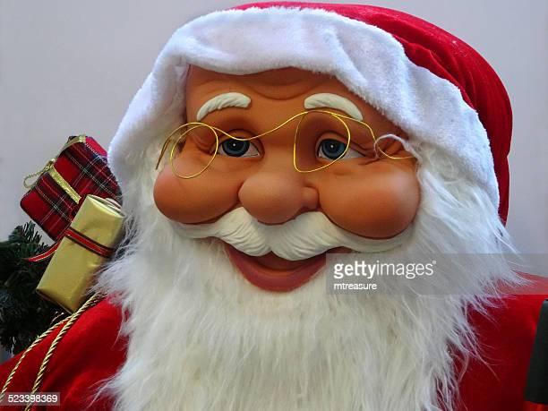 Gran cuddly tamaño papá noel de historieta/Claus, blanco, barba, winter-Visualizar