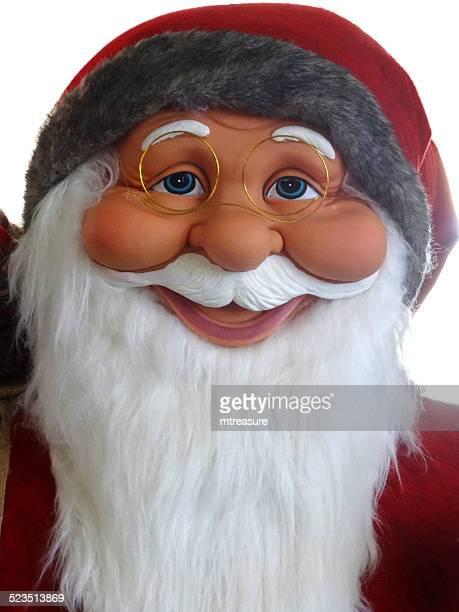 gran cuddly tamaño papá noel de historieta/claus, blanco, barba, winter-visualizar - cartoon santa claus fotografías e imágenes de stock